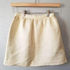 Vineyard Vines Silk & Metallic Gold Skirt Size S